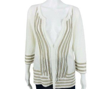 Christopher Banks Cardigan Sweater Small Ivory NWT